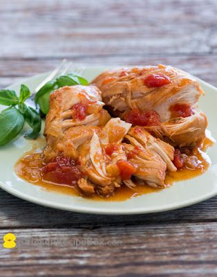 Slow Cooker Tomato Sriracha Chicken from Chicken Recipe Box via Slow Cooker from Scratch
