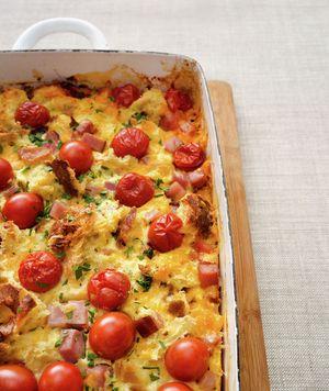 Tomato and Ham Breakfast Casserole Recipe