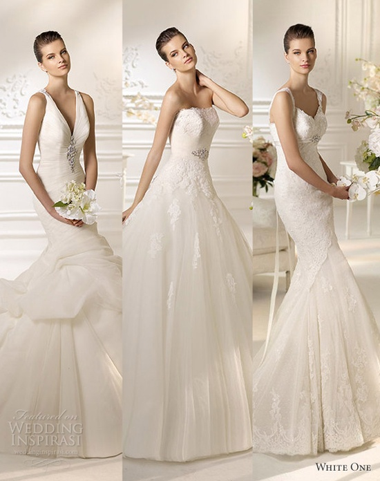 Our top 3  White One Wedding Dresses 2013 collection.