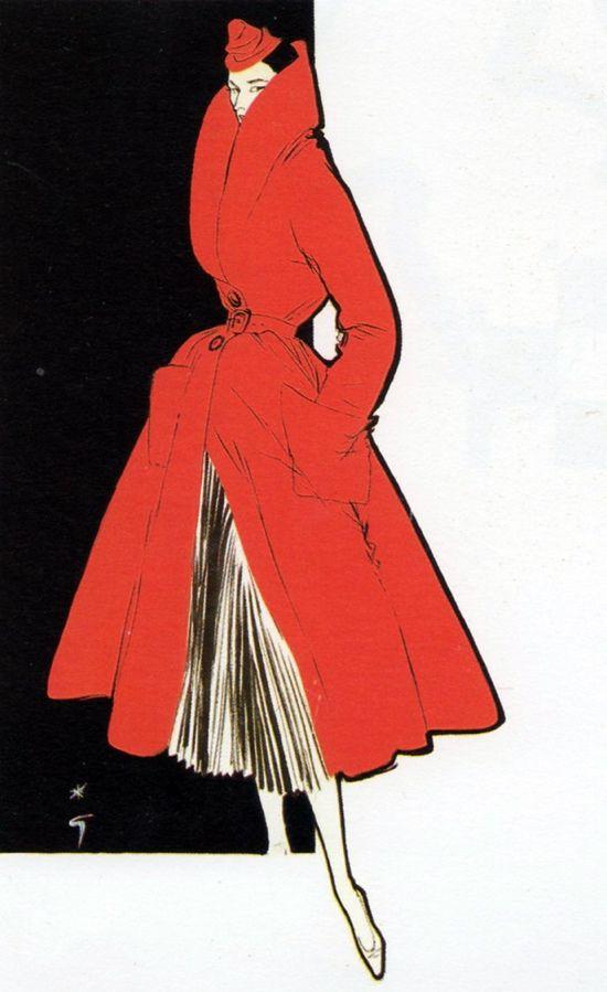 Gruau 1950s fashionillustration