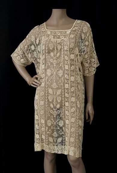 Hand knotted net lace tunic, #aodai #ao dai