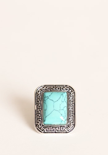 Ooh! Chunky turquoise jewelry done right!