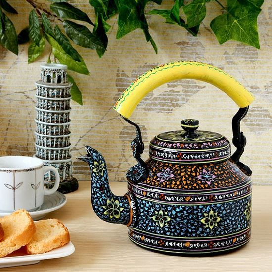 Kaushalam Tea Kettle Black & Yellow - #kitchen decorating before and after #living room design