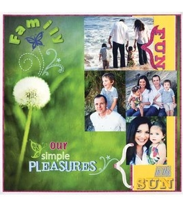Family fun scrapbook page inspiration from @DCWV Inc. Inc. -- it could also be framed :)