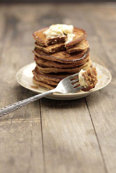 pumpkin pancakes - YUM!