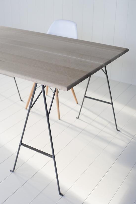 Oak and Steel - Desk, via Etsy.