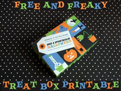 Halloween treat box printable