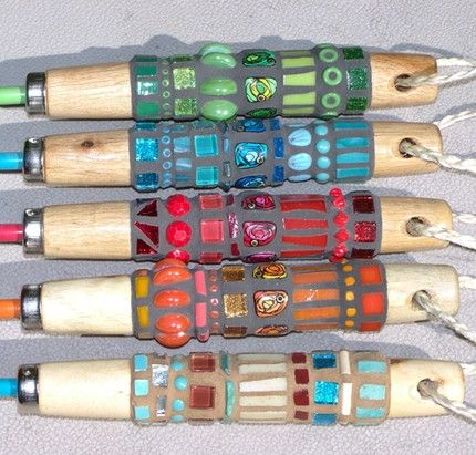 """you can even """"mosaic"""" the handles on your garden tools"""