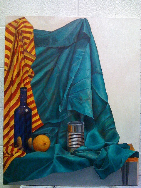 Blue Still Life Painting by Stak Stiles