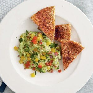 """Recipe of the Day: Edamame """"Guacamole"""" with Chile-Dusted PitaChips"""