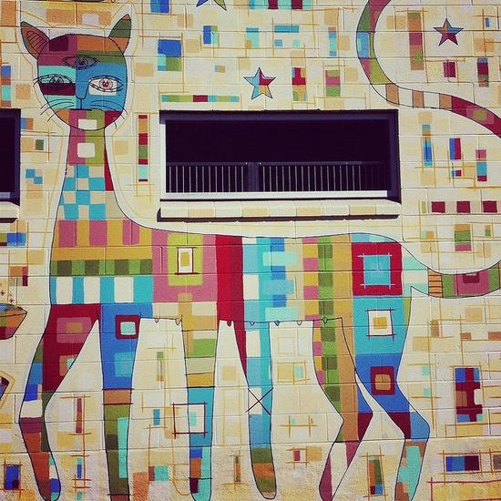 Oakland cat mural, CA