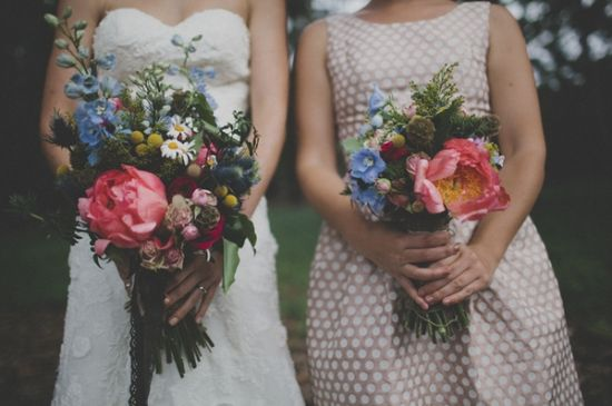 lush bouquets // photo by Still Love // flowers by Wood & Belle