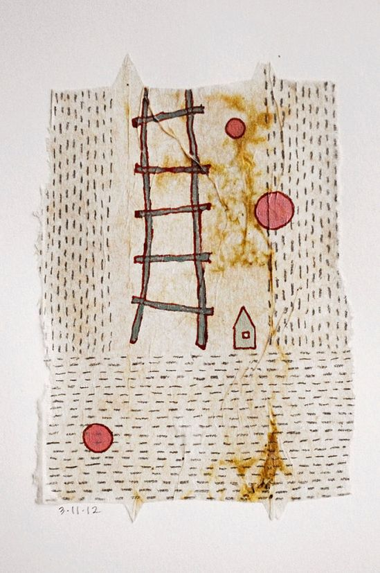 ? these daily teabag drawings by @Patti Roberts-Pizzuto