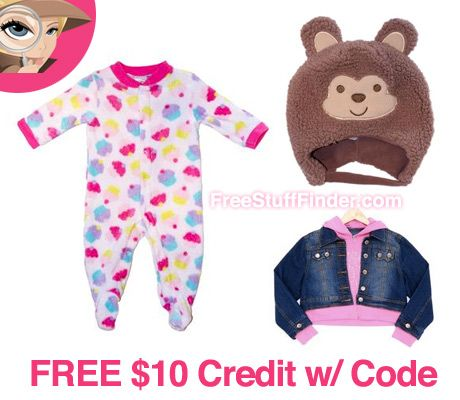 Free $10 Credit for Kids Clothing