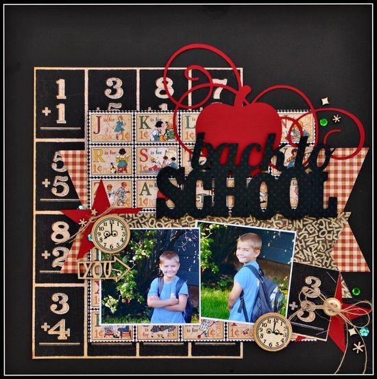 #papercraft #scrapbook #layout Back to School *G45* - Scrapbook.com