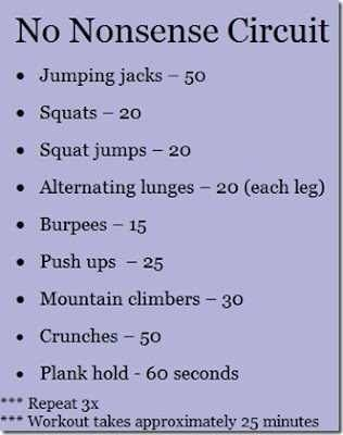 Circuit Workouts are quick way to burn calories when you are in a hurry!
