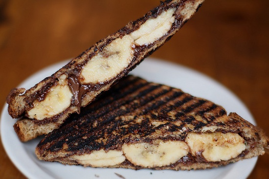 Grilled Nutella and Banana Panini