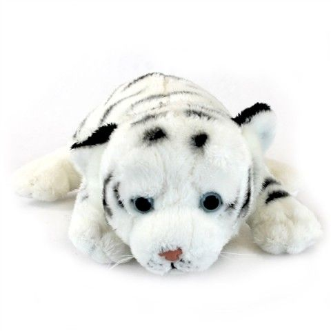 Newborn Baby White Tiger Stuffed Animal by SOS at Stuffed Safari