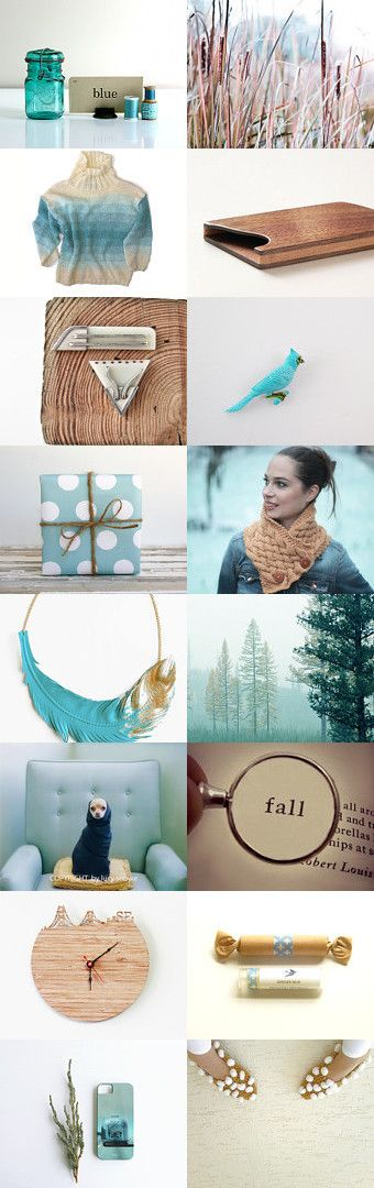 Blue and brown by Victoria Semykina on Etsy #etsy #blue #handmade #gifts