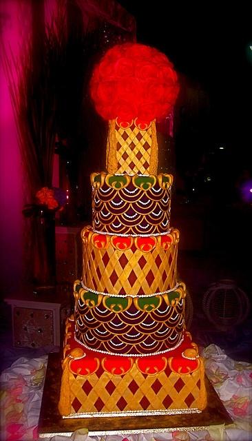 Masturas' wedding cake by The Ladygloom, via Flickr