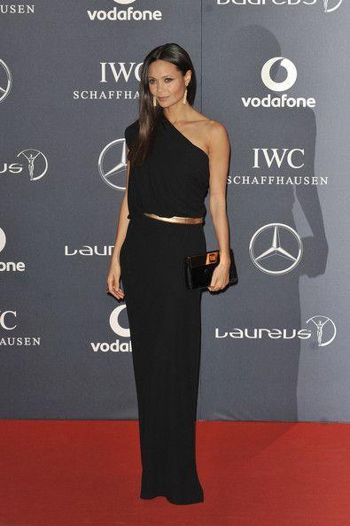 Thandie Newton's Black Grecian Osman Dress