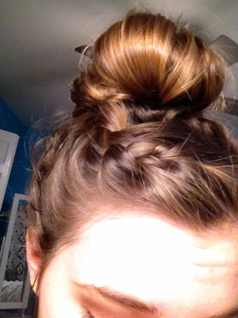 Braided bun #hair #style