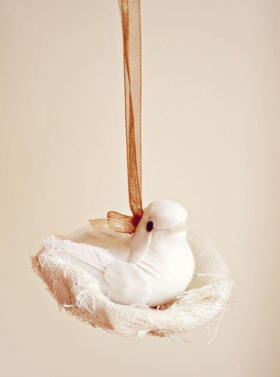 DIY Bird Ornament via A Beautiful Mess