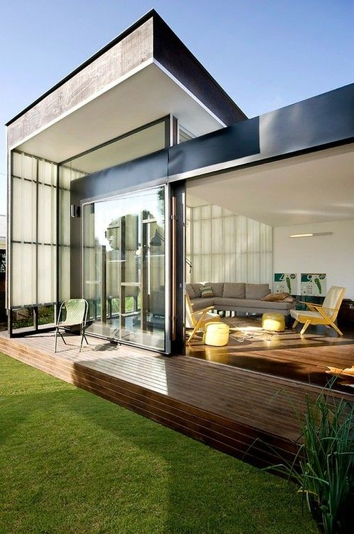 Indoor/outdoor style. Modern architecture