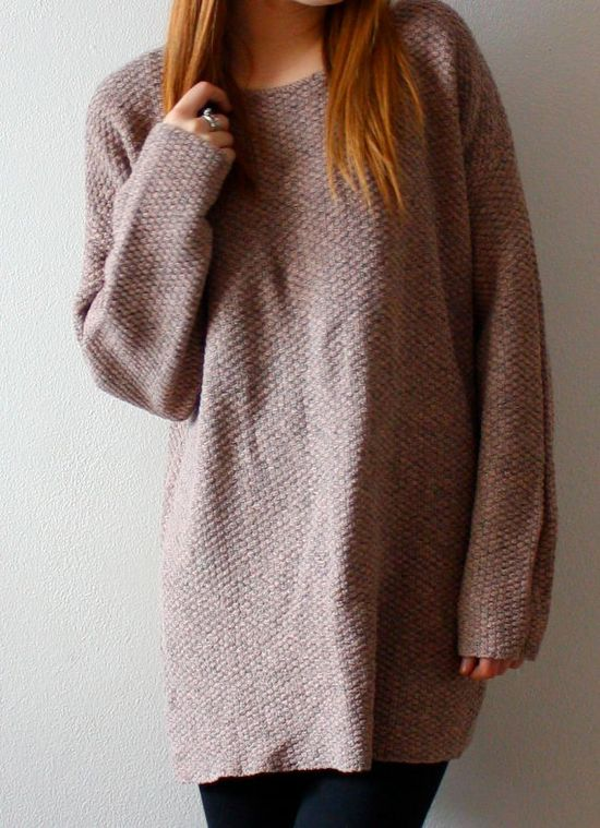 oversize sweater... yes! with leggings fall, winter essential