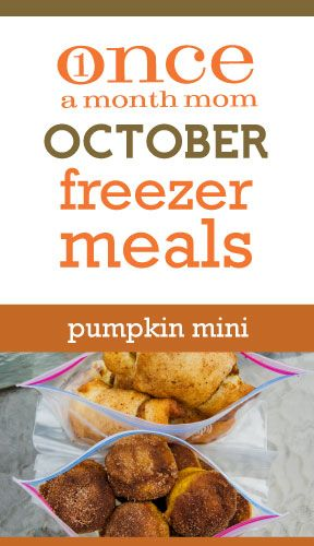 Pumpkin freezer cooking menu!