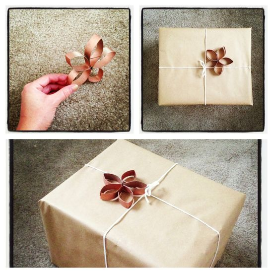 DIY Gift Bows (Upcycled Toilet Paper Rolls)