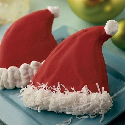 Santa Hat Sugar Cookies