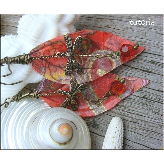 Jewelry Tutorials Earrings Wire Recycled Paper Leaf Earrings No 53. $4.00, via Etsy.