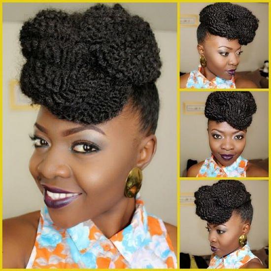 Cute pin up natural hair style