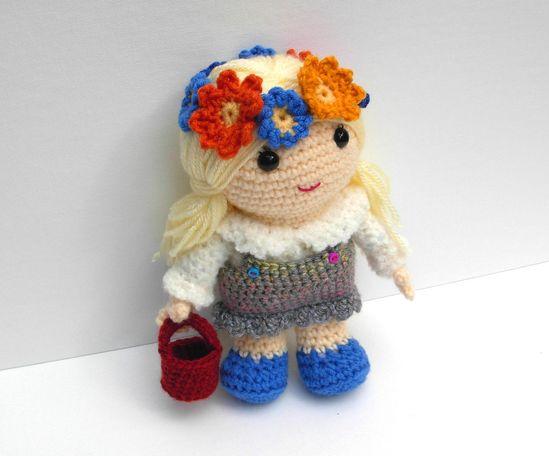 """Crochet Amigurumi Doll Blonde Hair"" #Amigurumi  #crochet"