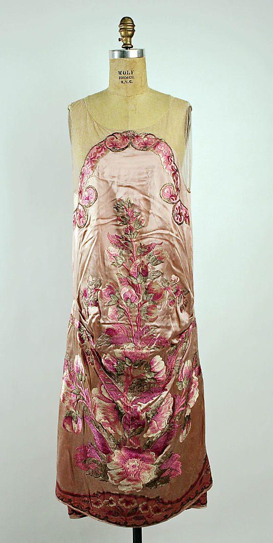 Callot Soeurs Dress - 1925-6 - by Callot Soeurs (French, active 1895-1937) - Silk, silver thread - @~ Watsonette...via Mlle