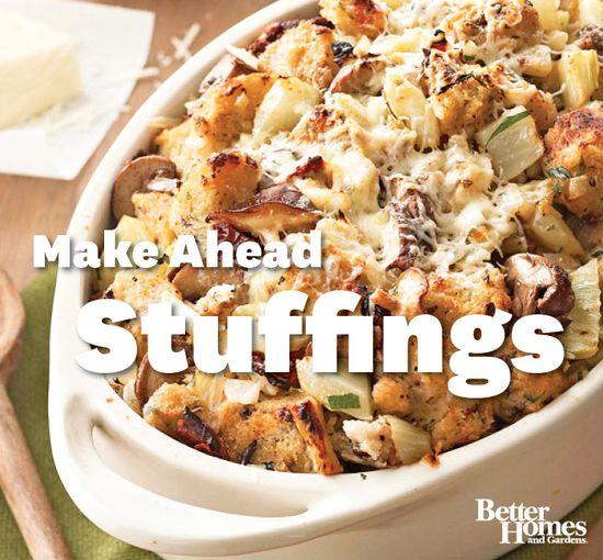 Make ahead stuffing recipes