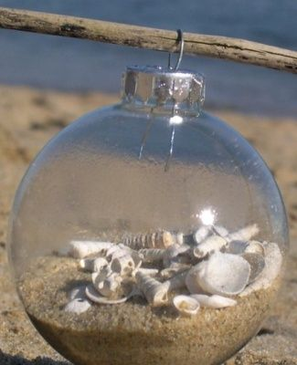 DIY - Make a beach christmas ornament