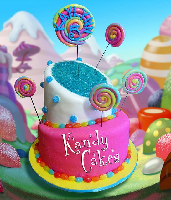 Candy Land Themed Cake