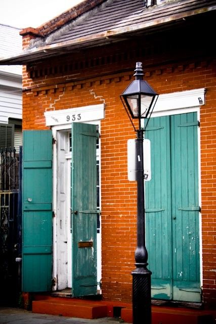 French Quarter painted shutters