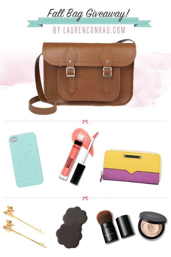 Lauren Conrad's Fall Bag Giveaway