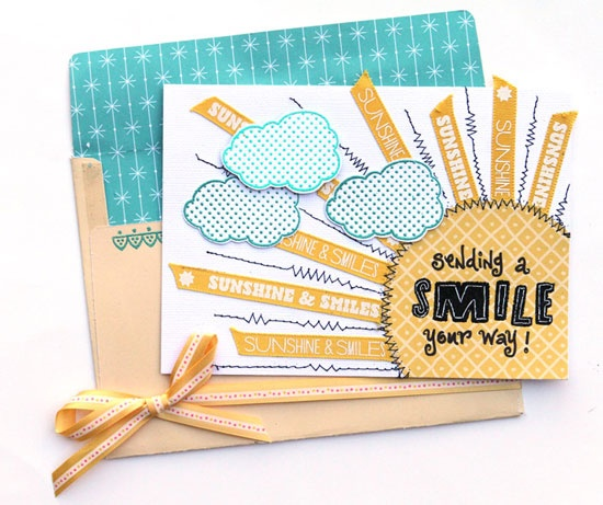 """""""Sending a Smile Your Way"""" card by Suzy Plantamura for Creating Keepsakes magazine.  #card #cardmaking #scrapbooking"""