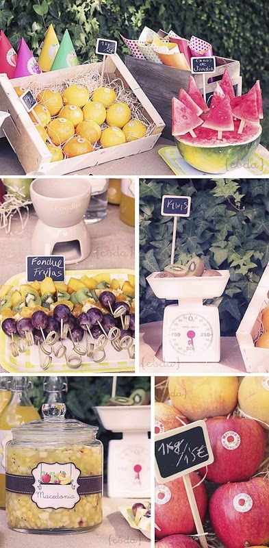 CUTE summertime party table