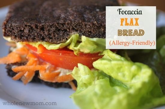 This Focaccia Flax Bread is super fast and tastes great with both sweet and savory fillings. It's also gluten-free with grain-free and vegan...
