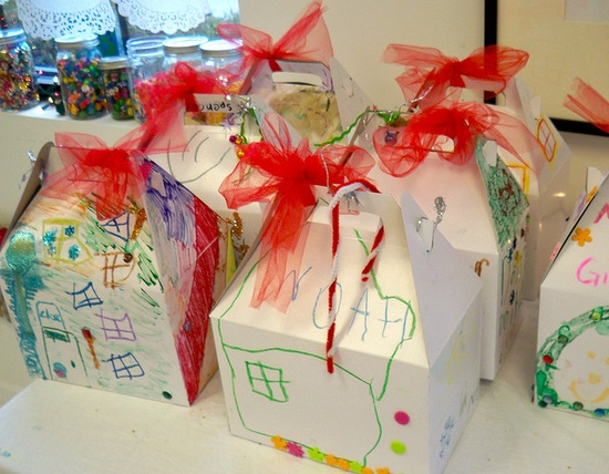 Handmade gifts inside of lovely wrappings.