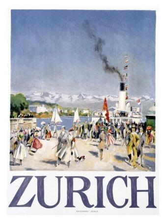 zurich travel poster
