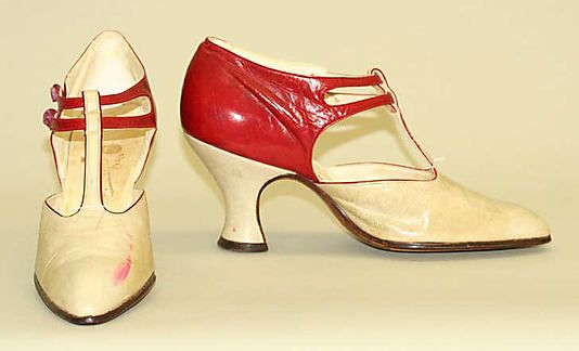 Shoes 1920, French, Made of leather. @Deidré Wallace