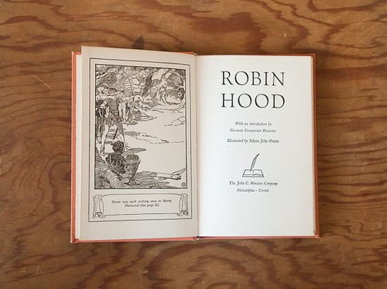 Robin Hood illustrated // blue handmade journal // by ericmbaral