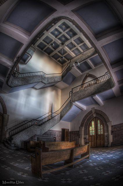 An abandoned monastery in Belgium.