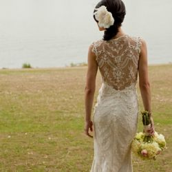 A beautiful collection of show-stopping lace back wedding dresses